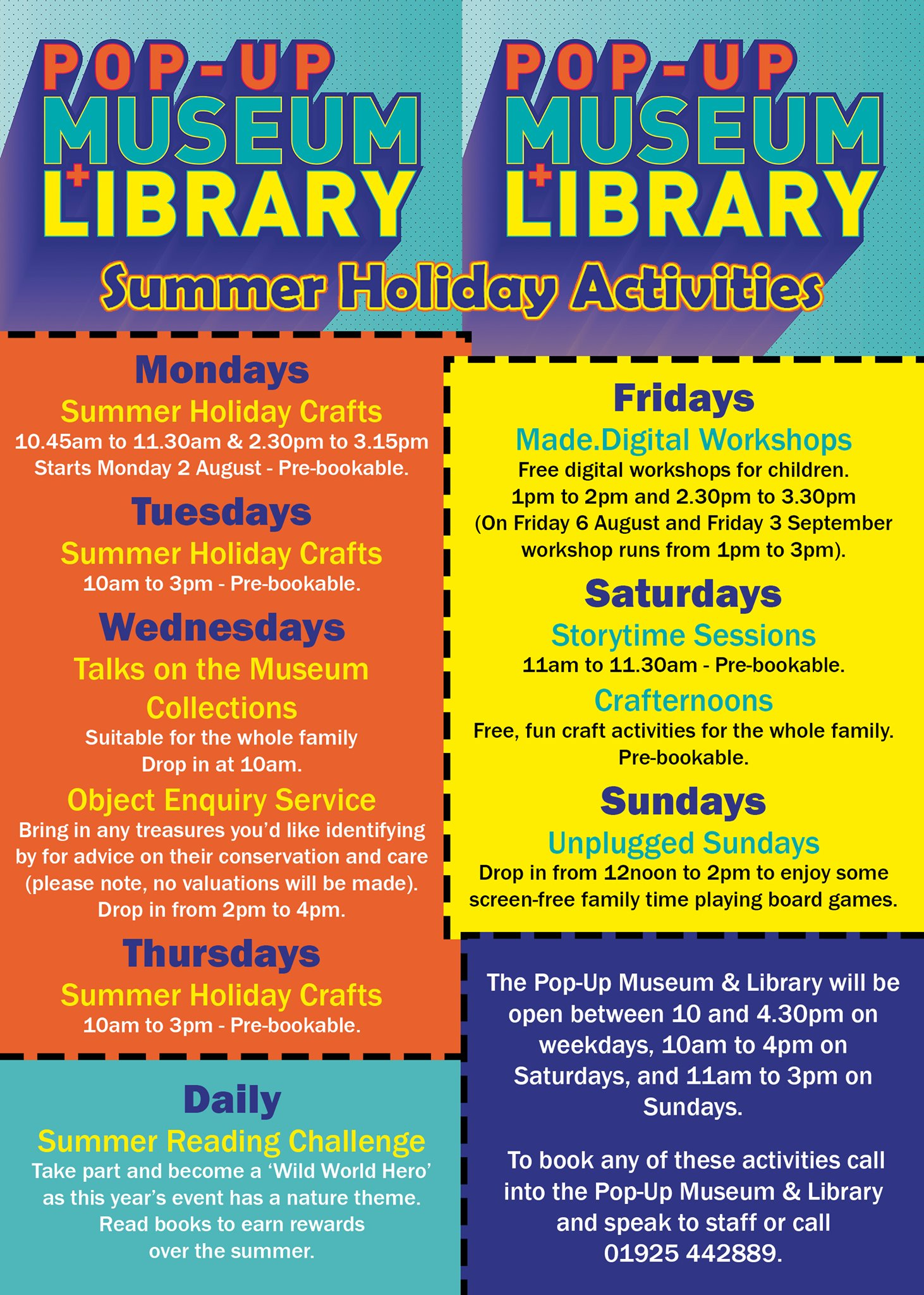 Pop-Up Museum & Library unveils FREE Summer Activities