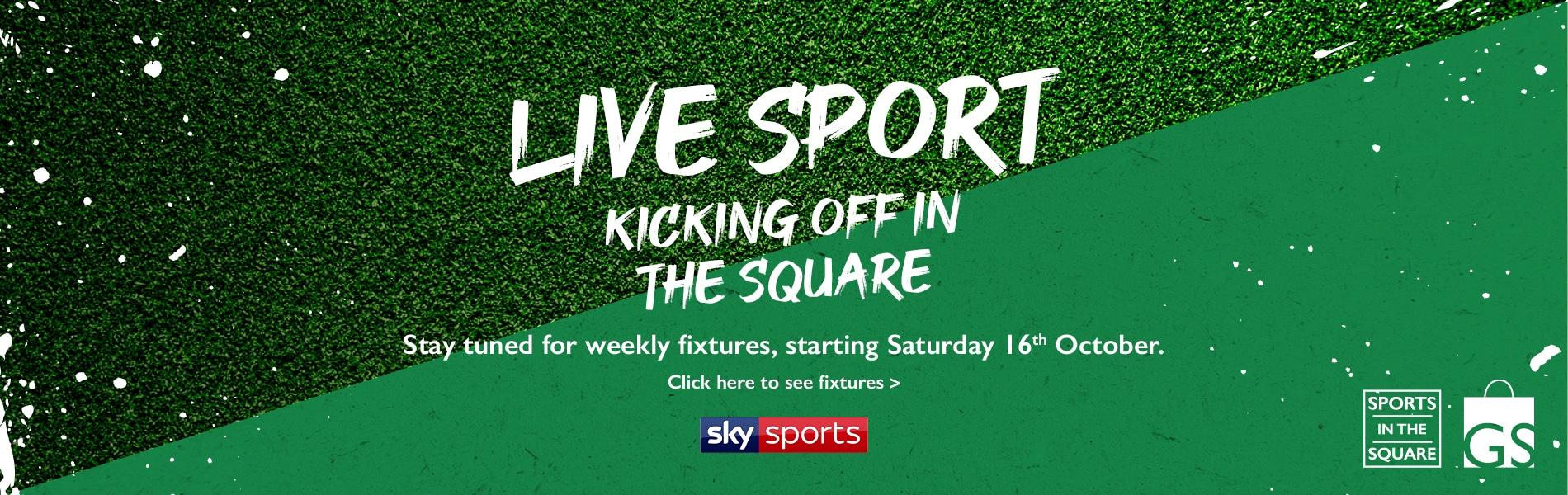 Live sports web banner